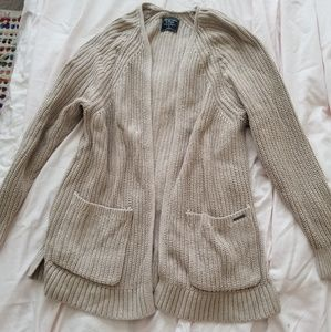 Abercrombie and Fitch light tan sweater cardigan